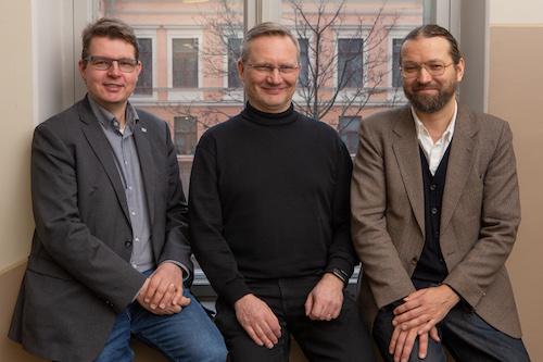 Ismo Malinen, Matti Sarmela ja Erkki Tolonen.